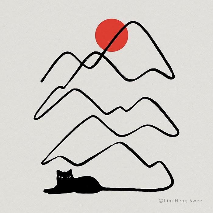 gatos y montañas