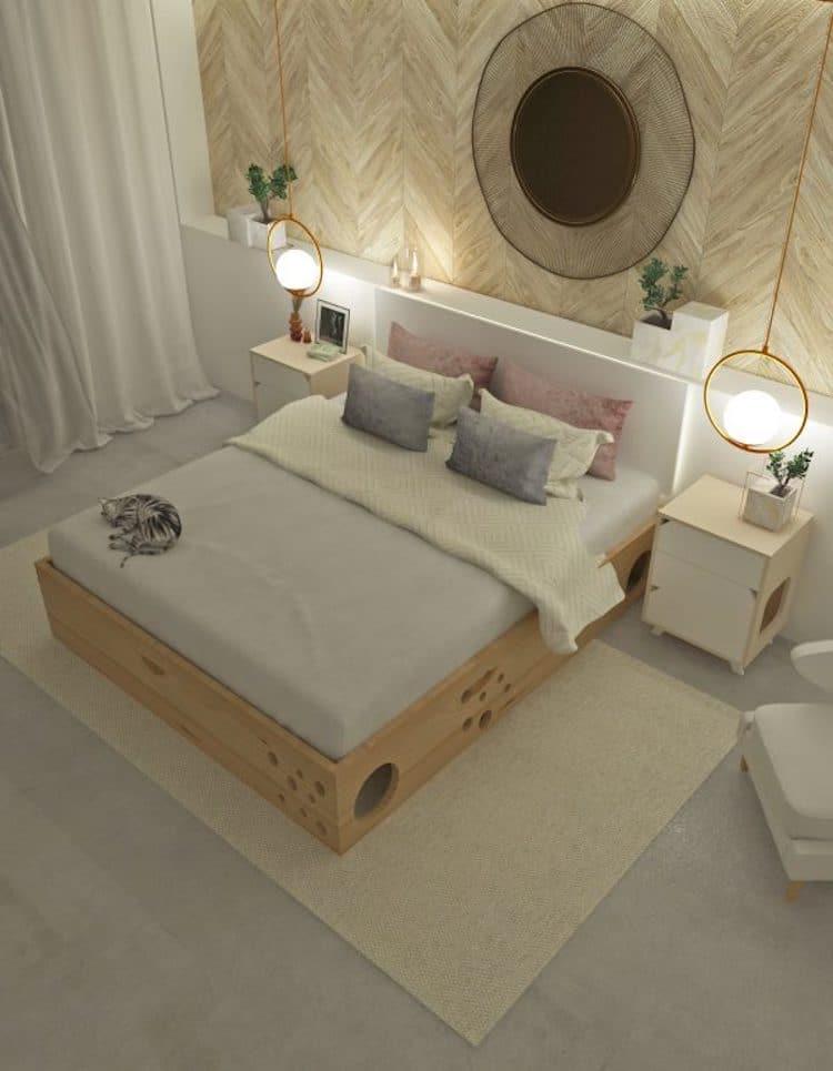 cama con agujeros