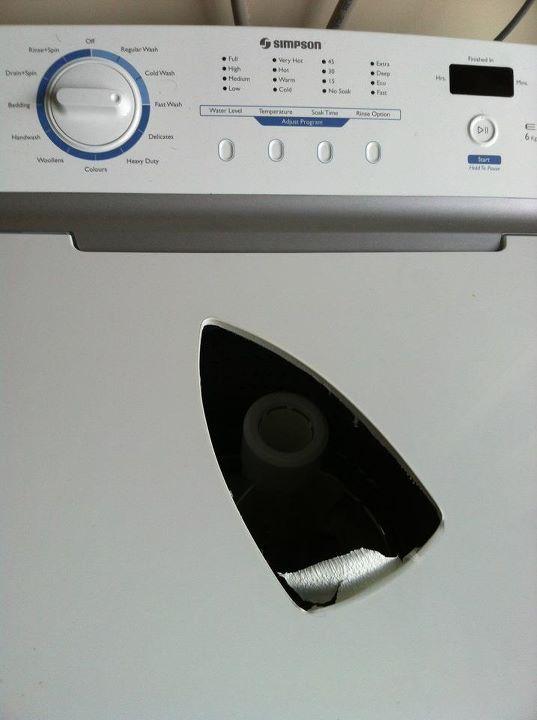 lavavajillas con agujero de plancha