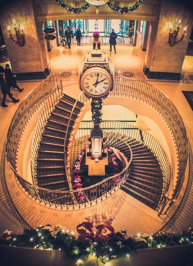 escalera clásica