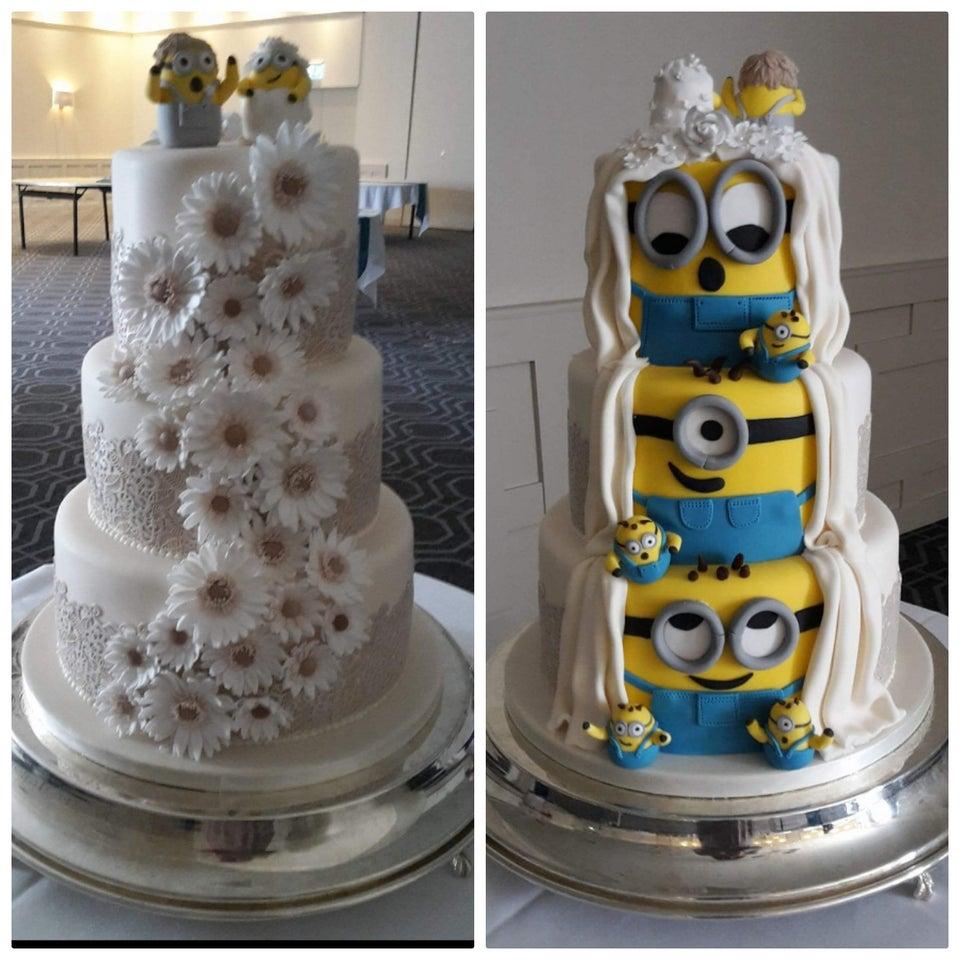 minions pastel de boda