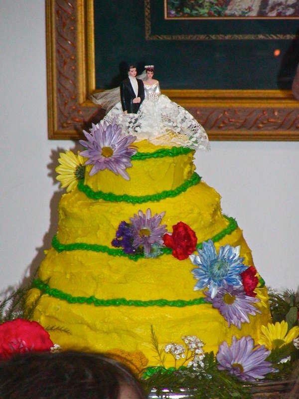 pastel boda amarillo