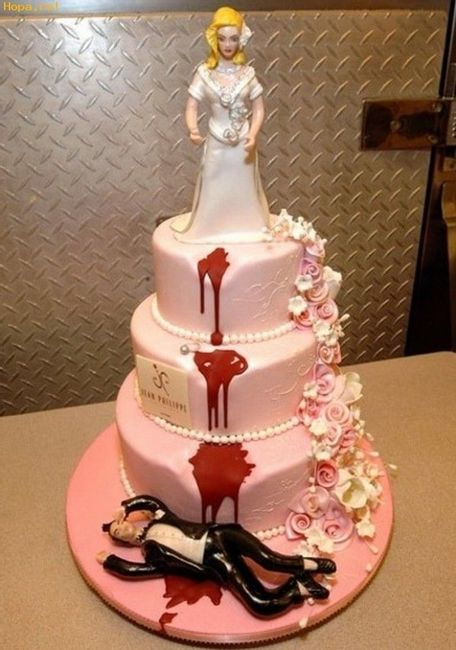 pastel sangriento boda