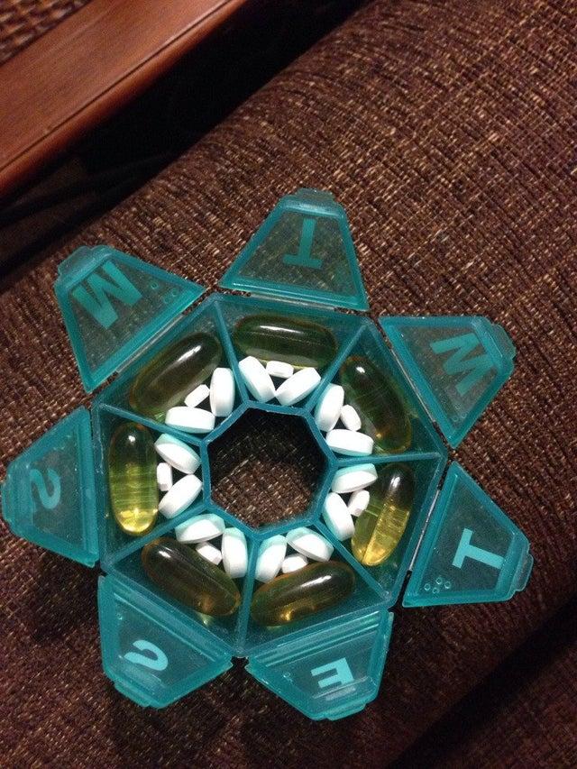pastillas perfectamente guardadas