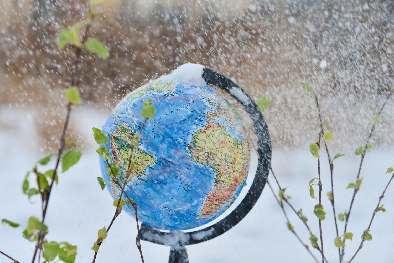 globo terráqueo edad de hielo