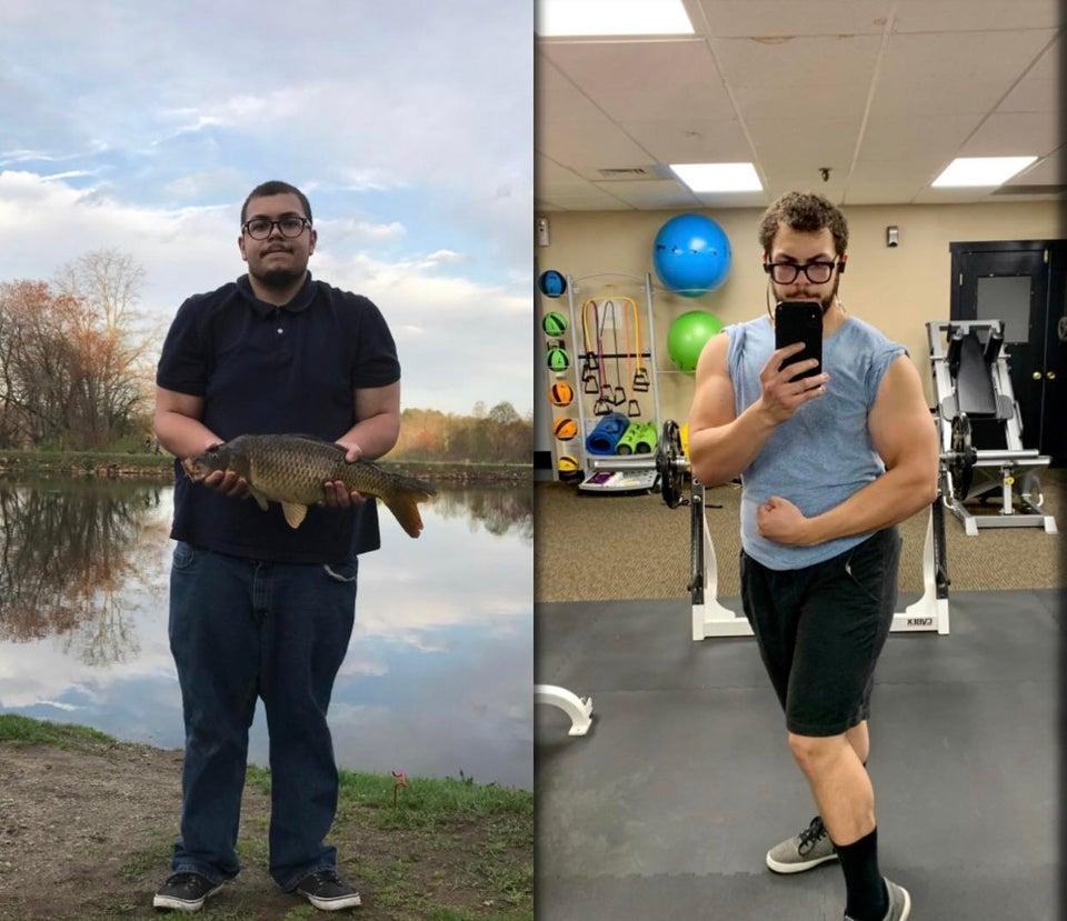 antes y después cambio radical