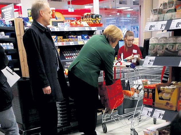 Merkel en el súper
