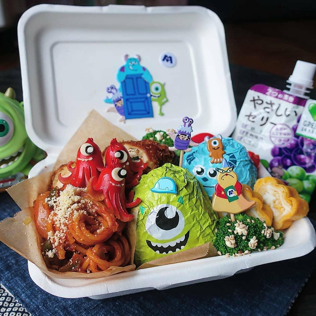 comida decorada monstruos