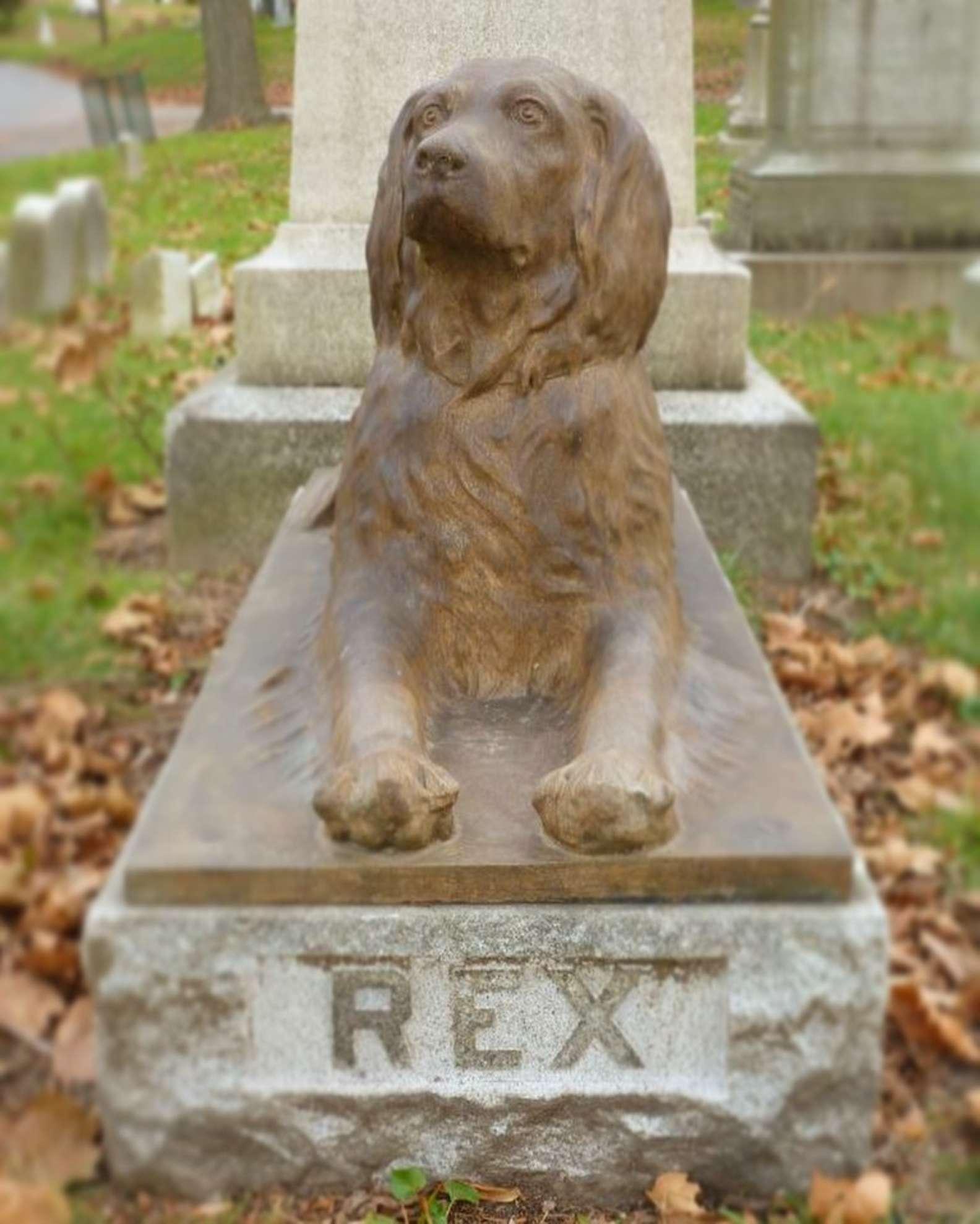 escultura perro rex