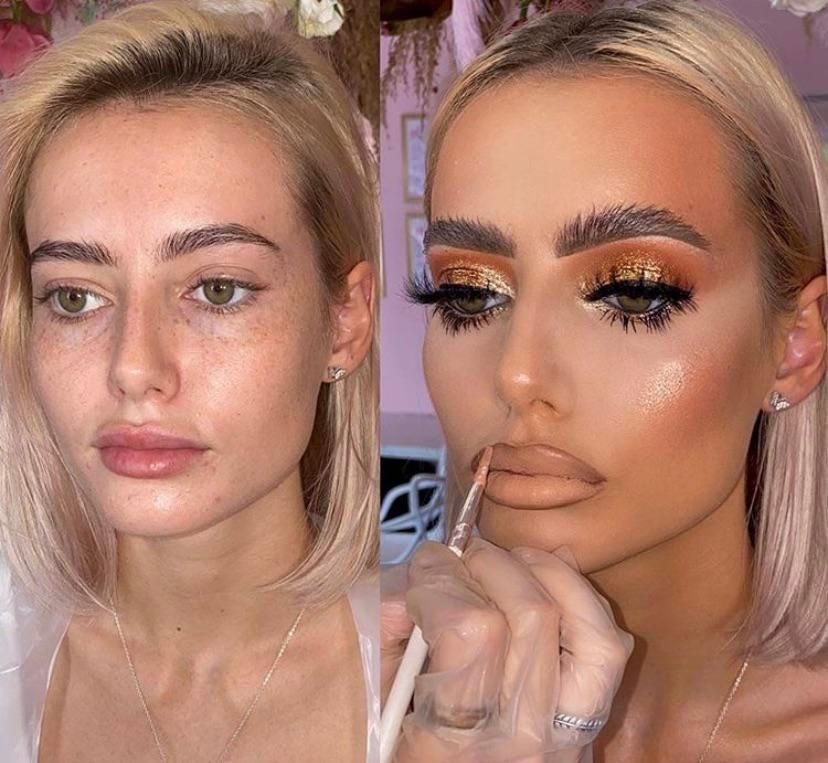 maquillaje antes despues