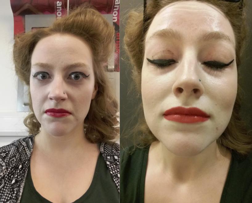 maquillaje de modelo