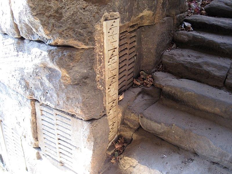 escaleras del nilómetro de Elefantina