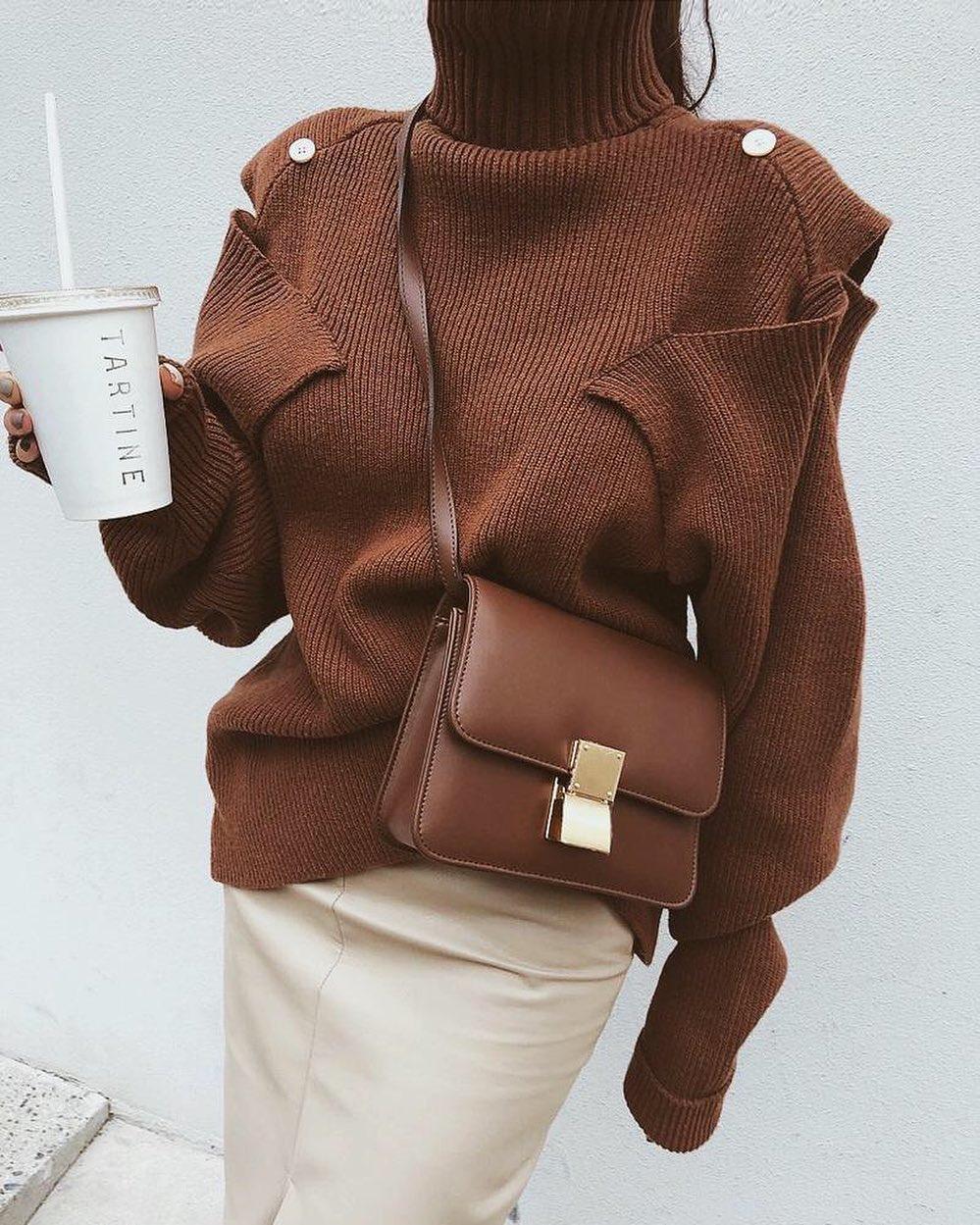 jersey marrón mujer