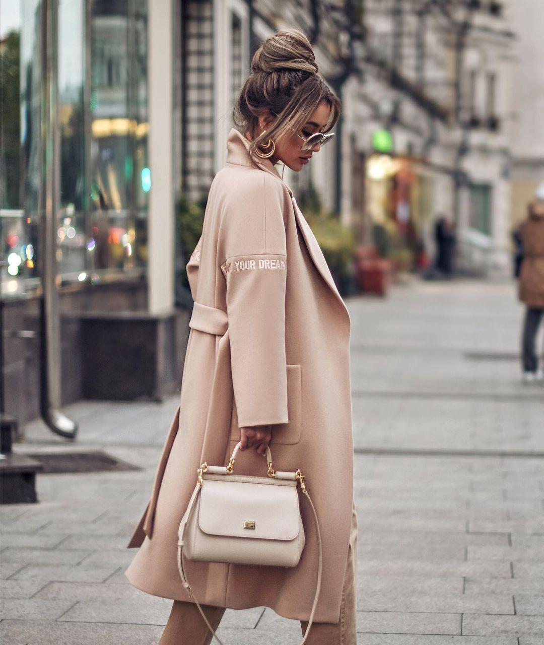 abrigo salmón de mujer