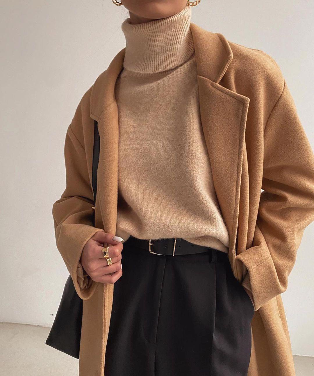 jersey de cuello alto mujer
