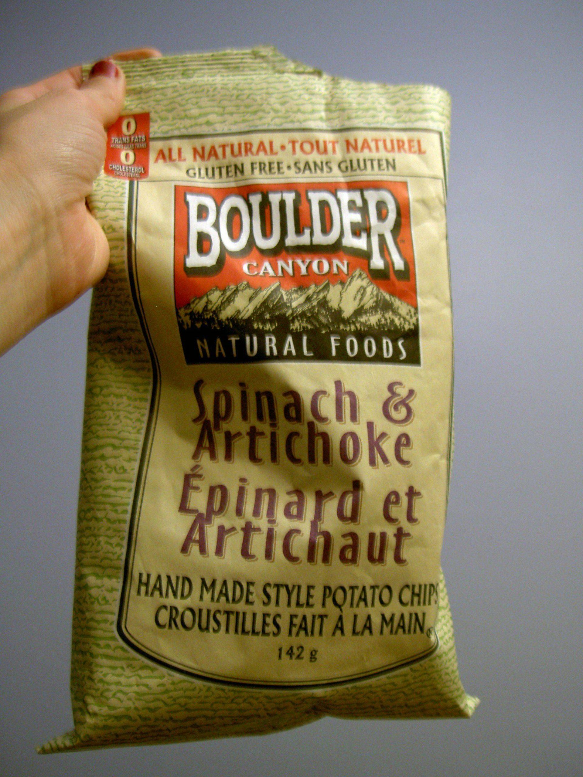 patatas de espinaca y alcachofa