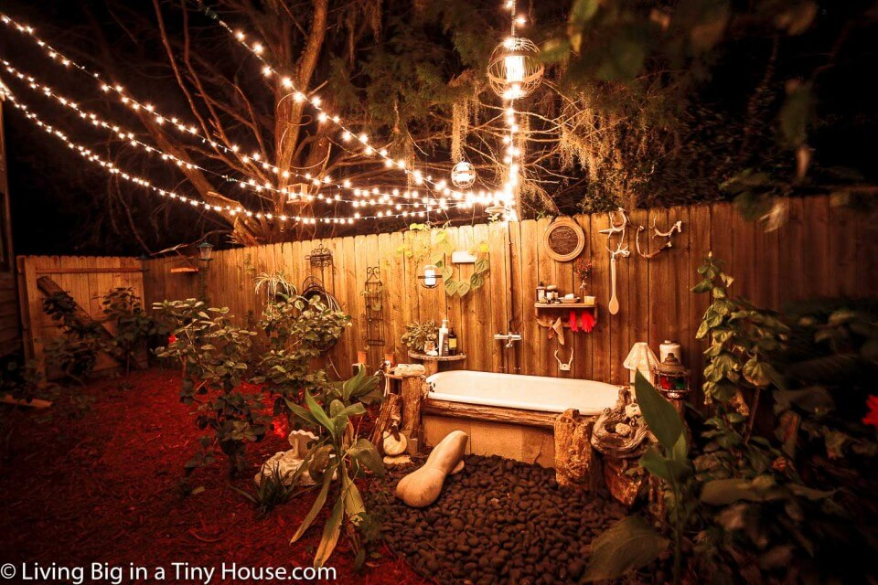 baño exterior casa sirena gitana