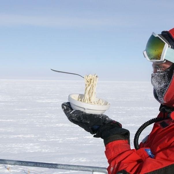 comida congelada con el frio