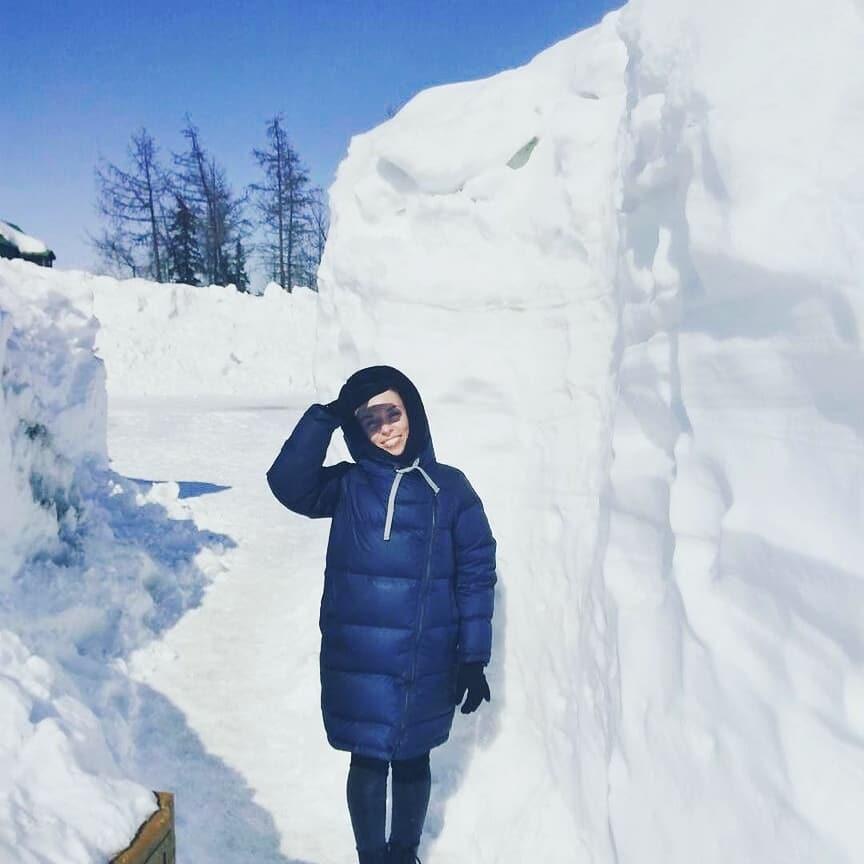 metros de nieve