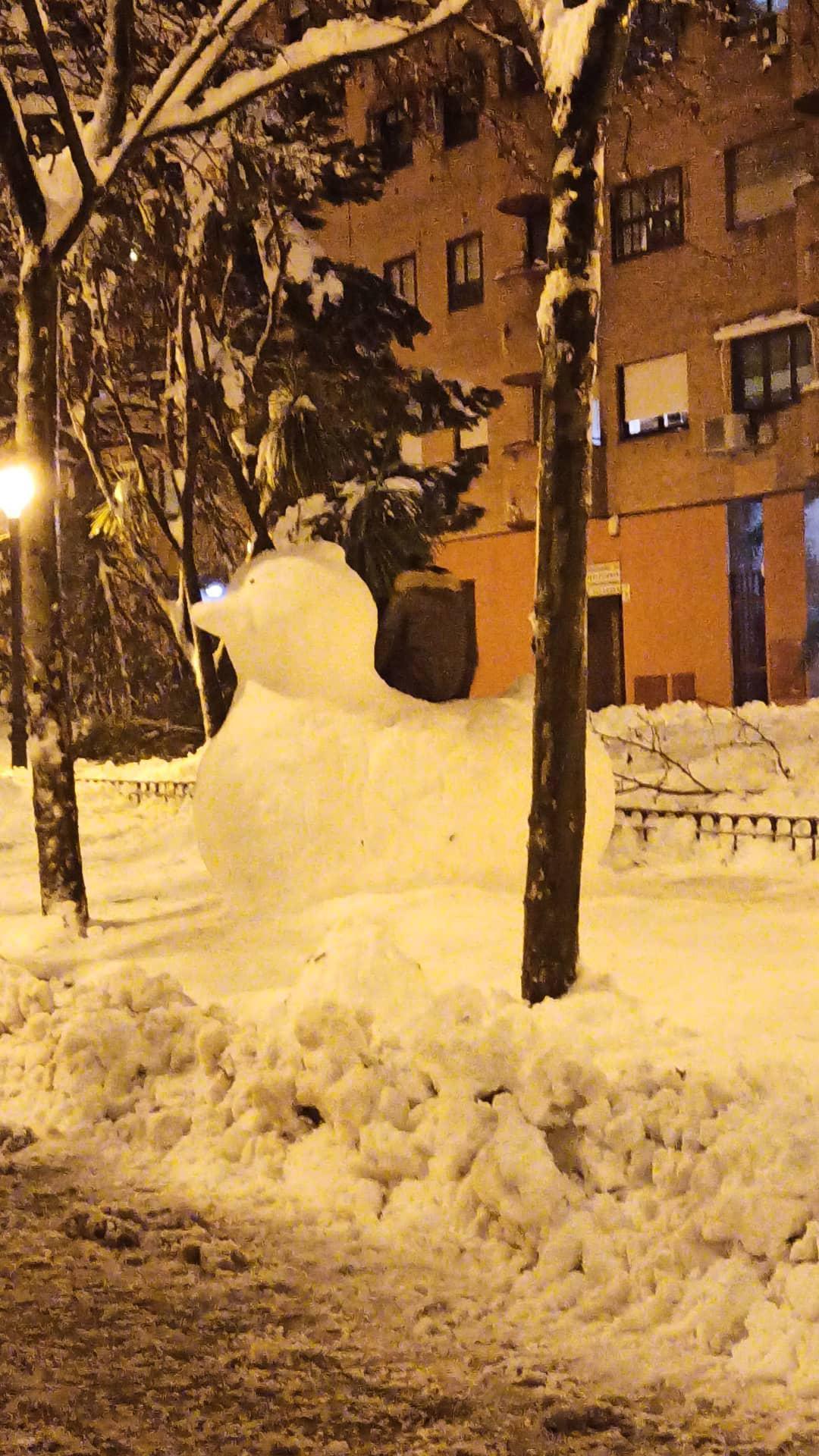 patito de nieve