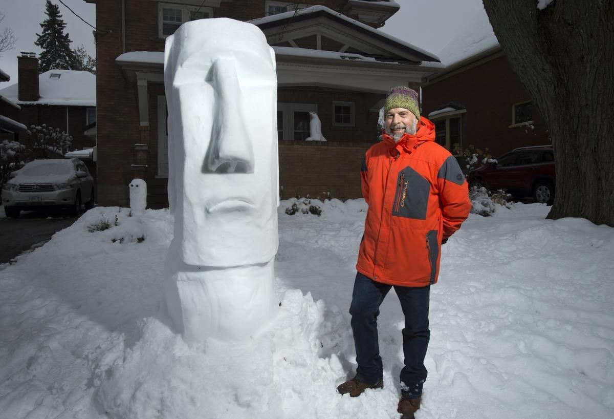 un dólmen de nieve