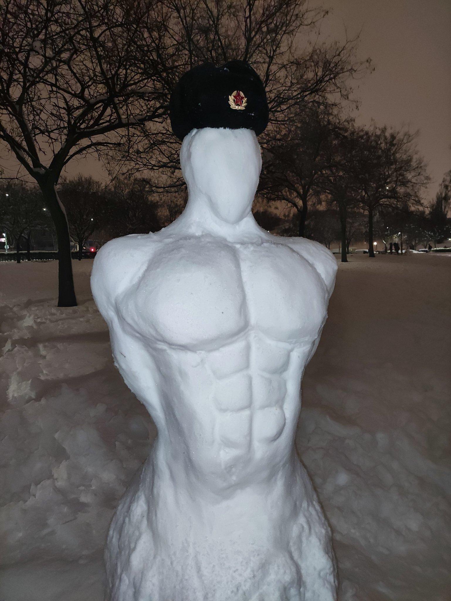 busto de torso comunista de nieve Madrid