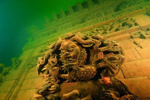 dragón tallado en la piedra Shicheng