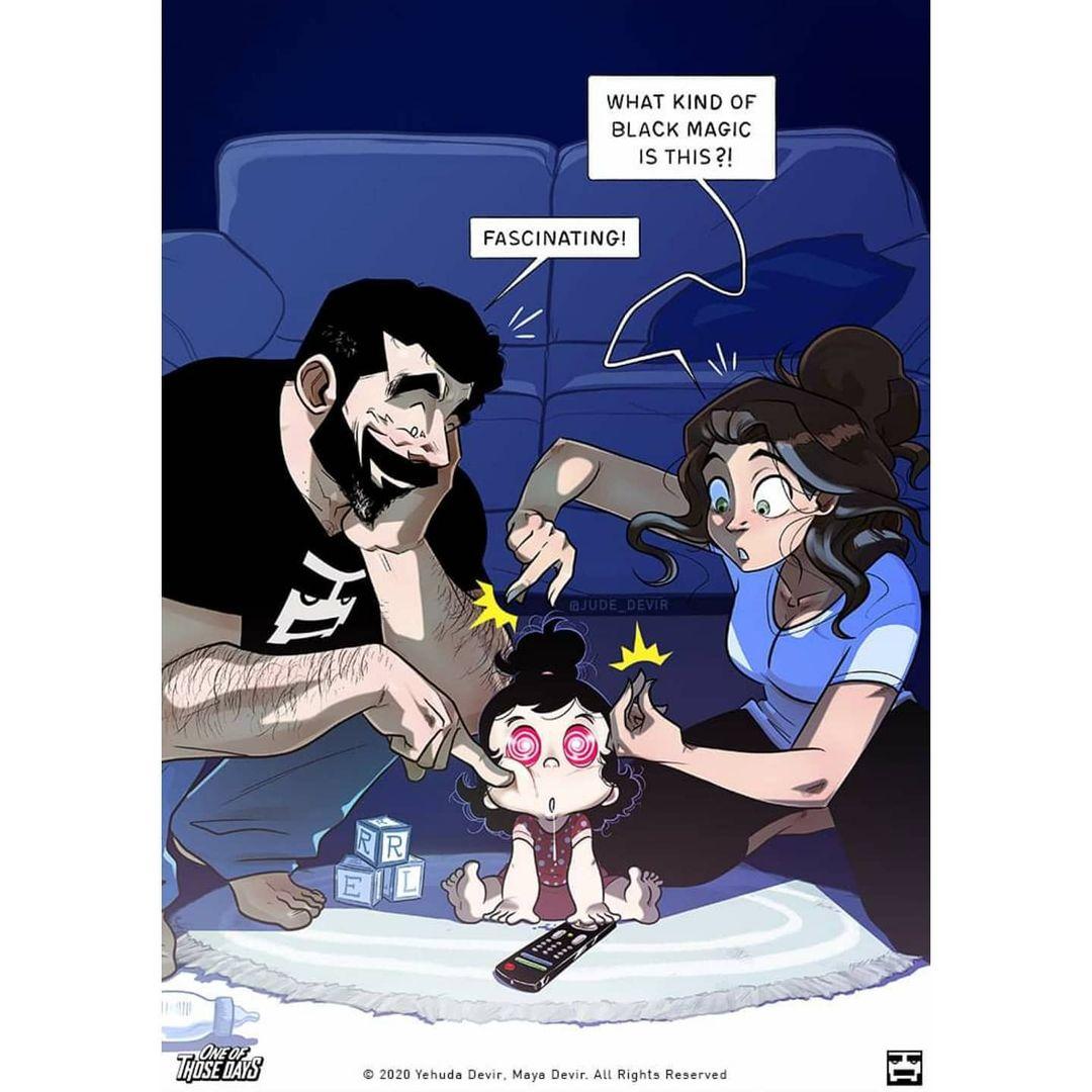 ilustraciones sobre la paternidad