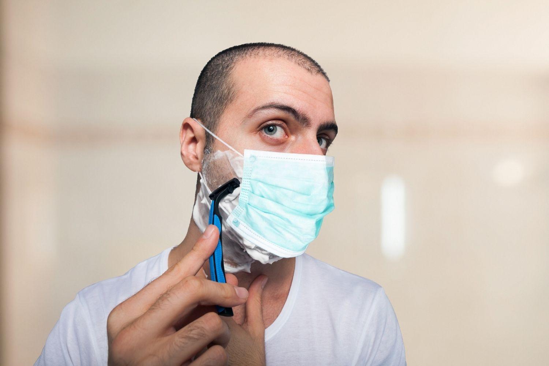 barba mascarilla