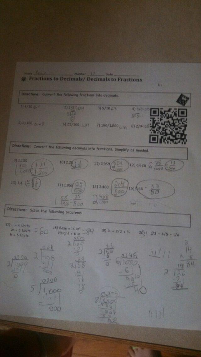 tarea con código QR