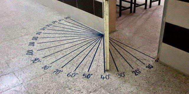 puerta que marca los grados