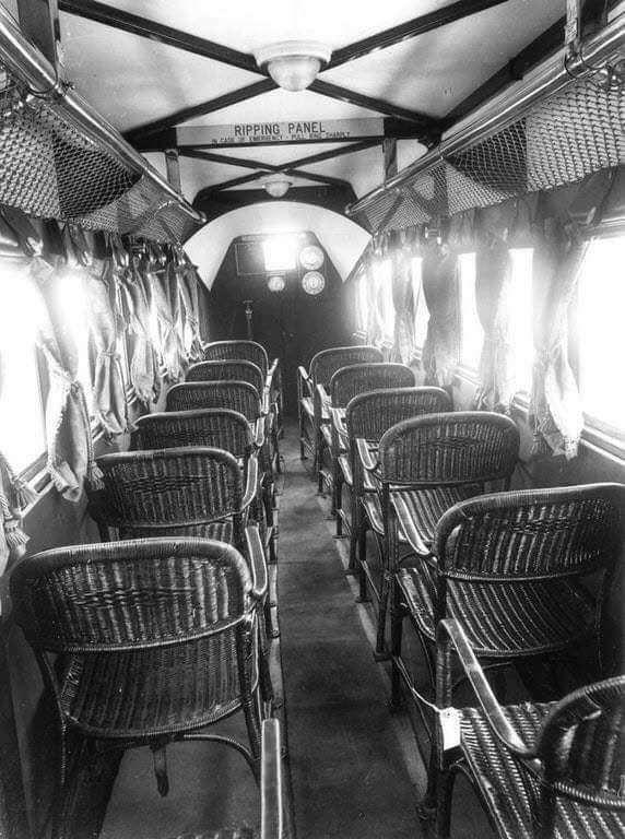 asientos antiguos de avión