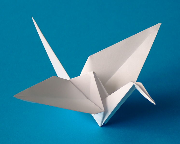 grulla de papel