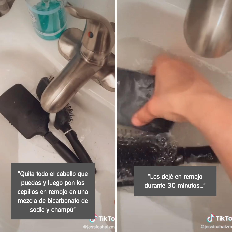 cómo limpiar los cepillos