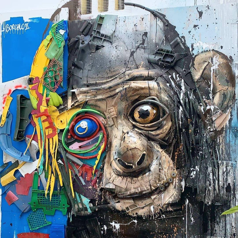 mono basura