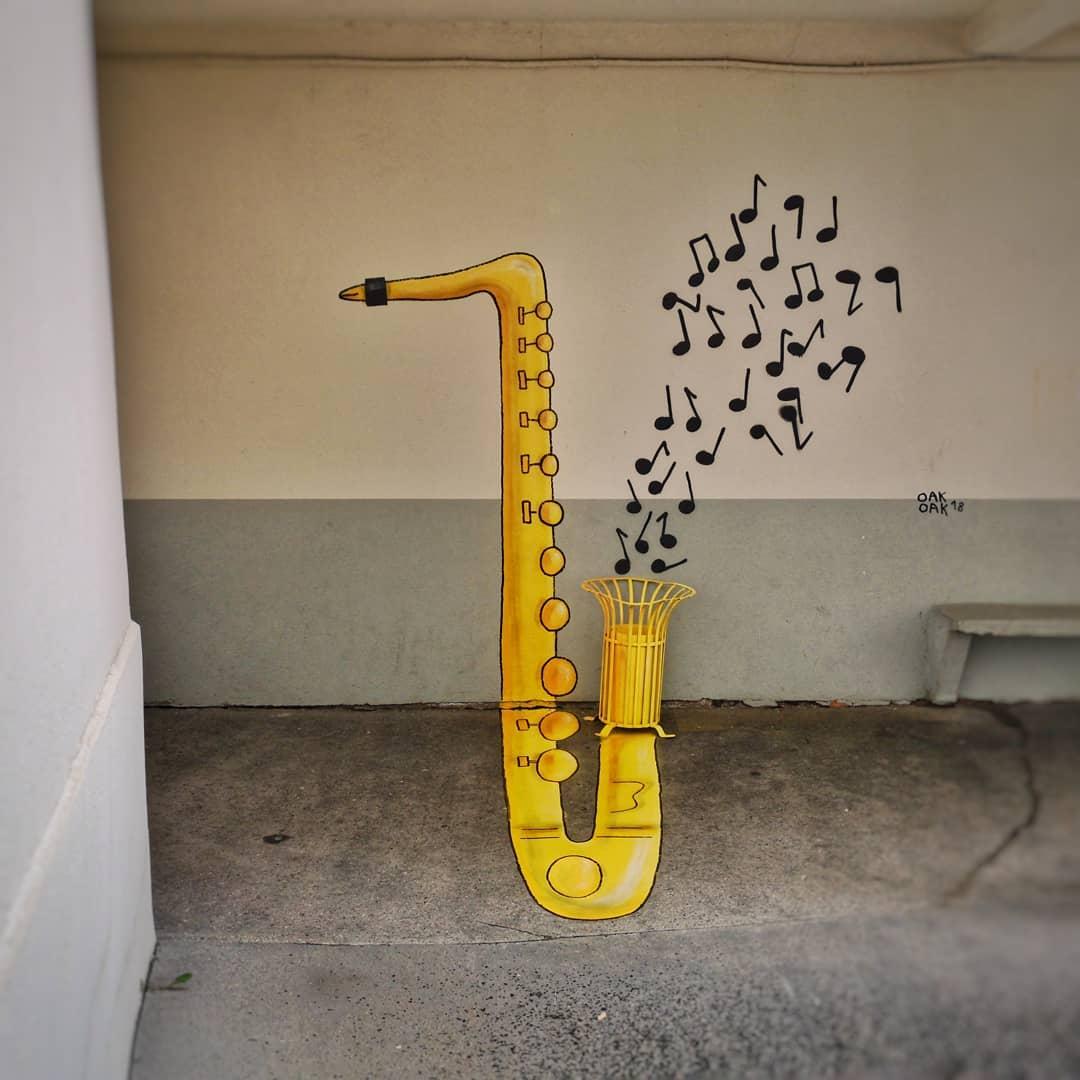 Saxofón graffiti