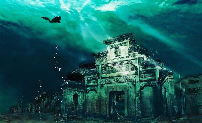 ciudad sumergida en China