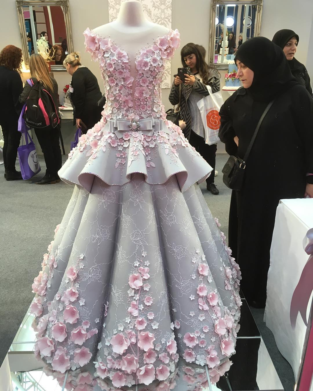 vestido de novia de azucar