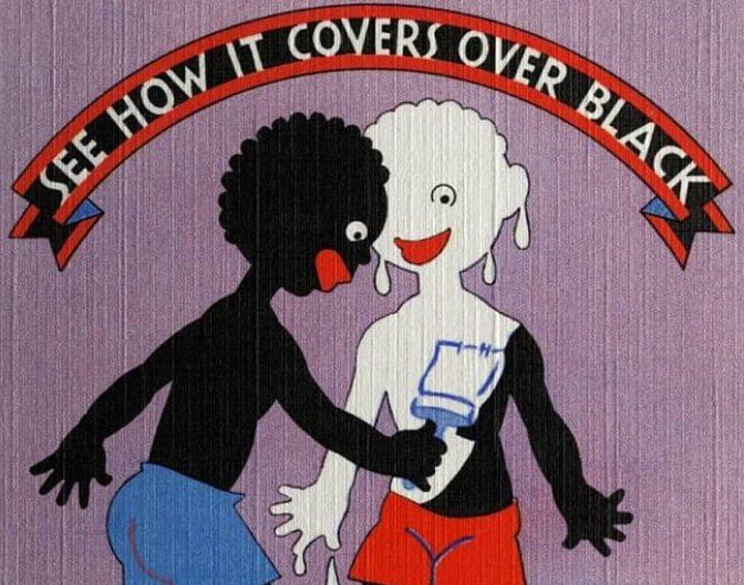 anuncio de pintura racista