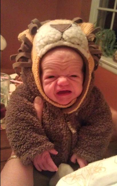 bebé arrugado