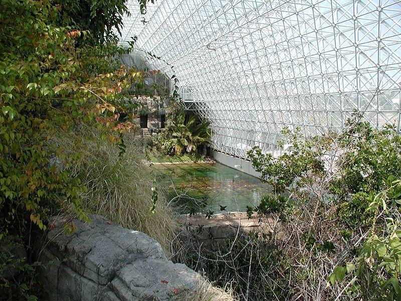 interior de biosfera 2