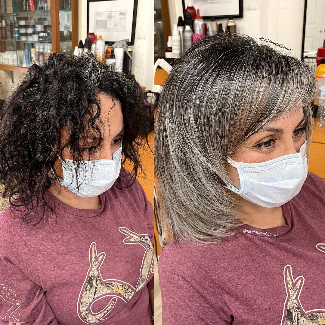 pelo blanco natural
