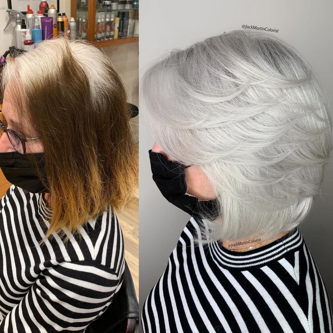 teñir el pelo de blanco