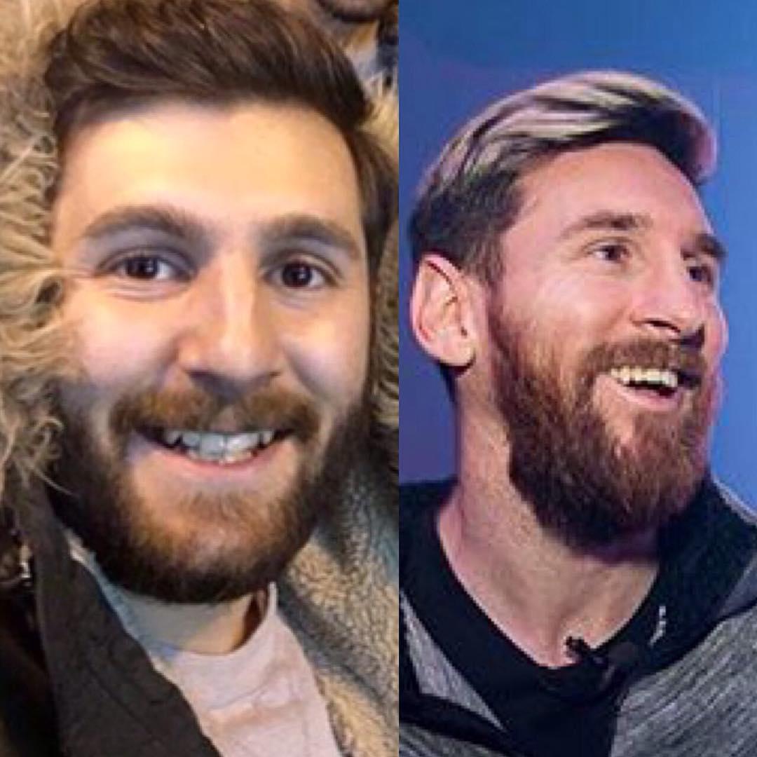 Reza Parastesh y Messi