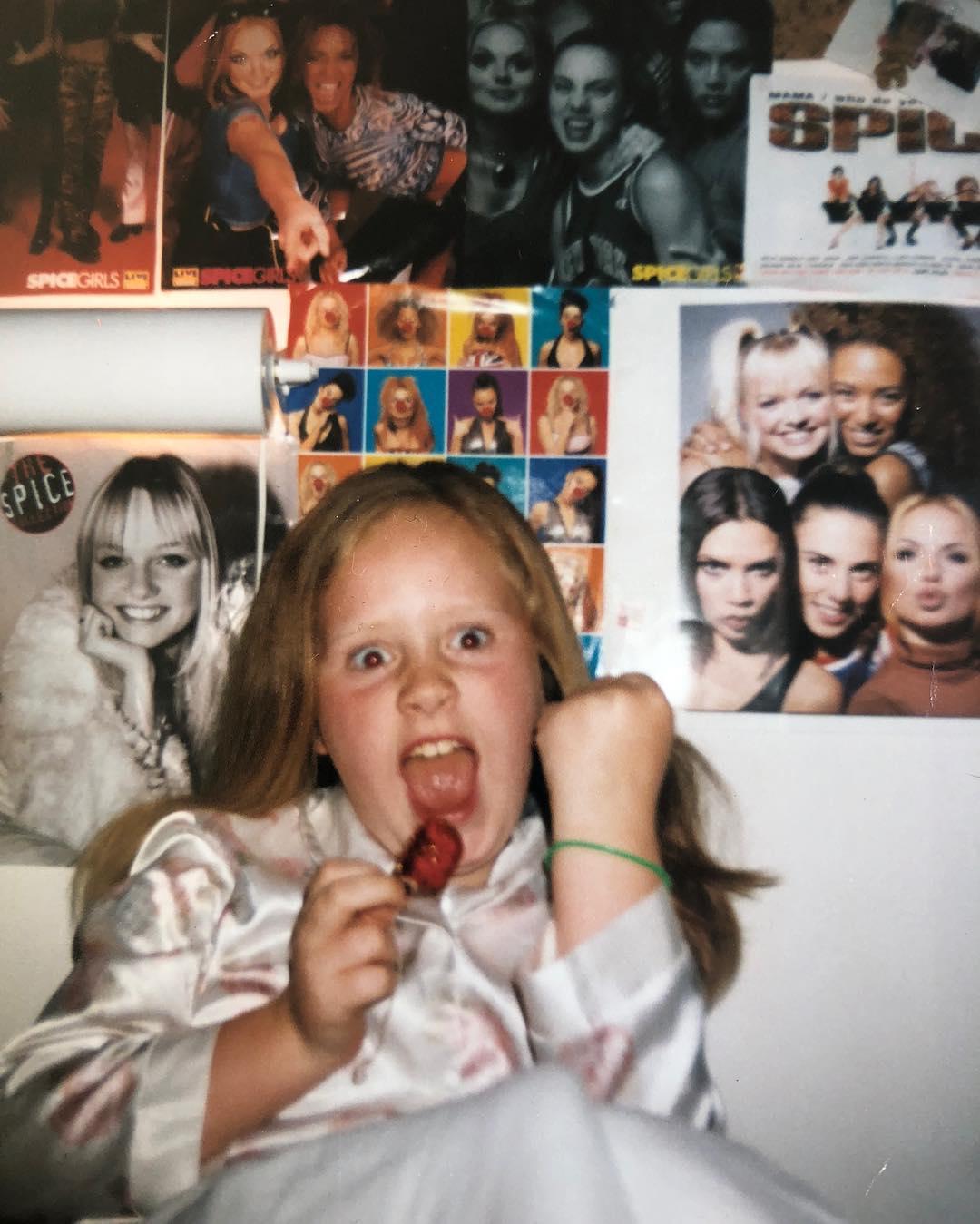 Adele de pequeña