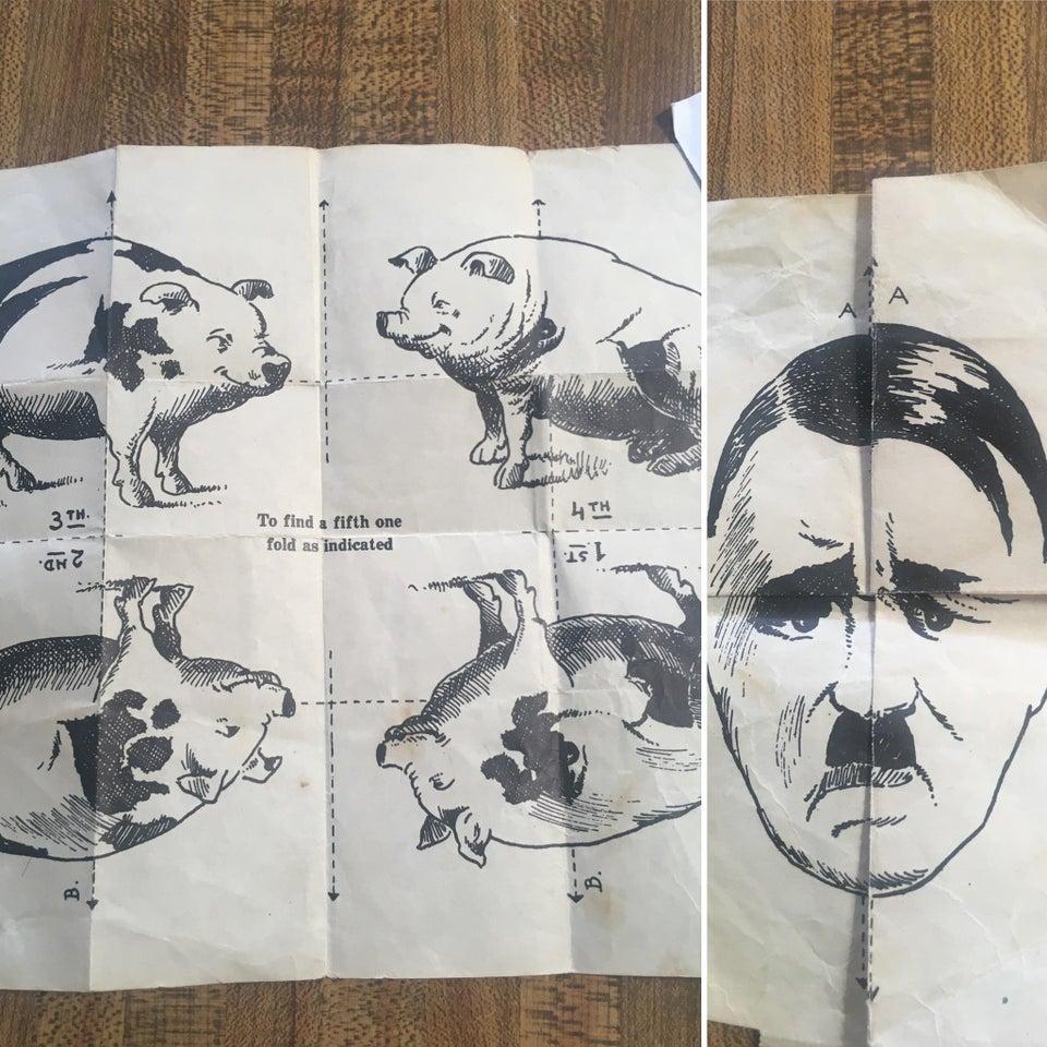 papel cerdo y hitler