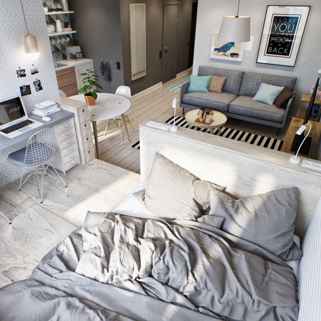 dormitorio en salón