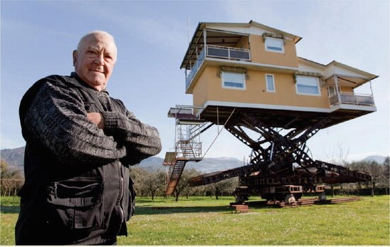 Annunzio Lagomarsini, el italiano que construyó la casa voladora