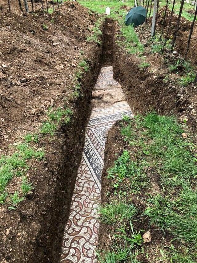 mosaicos romanos enterrados