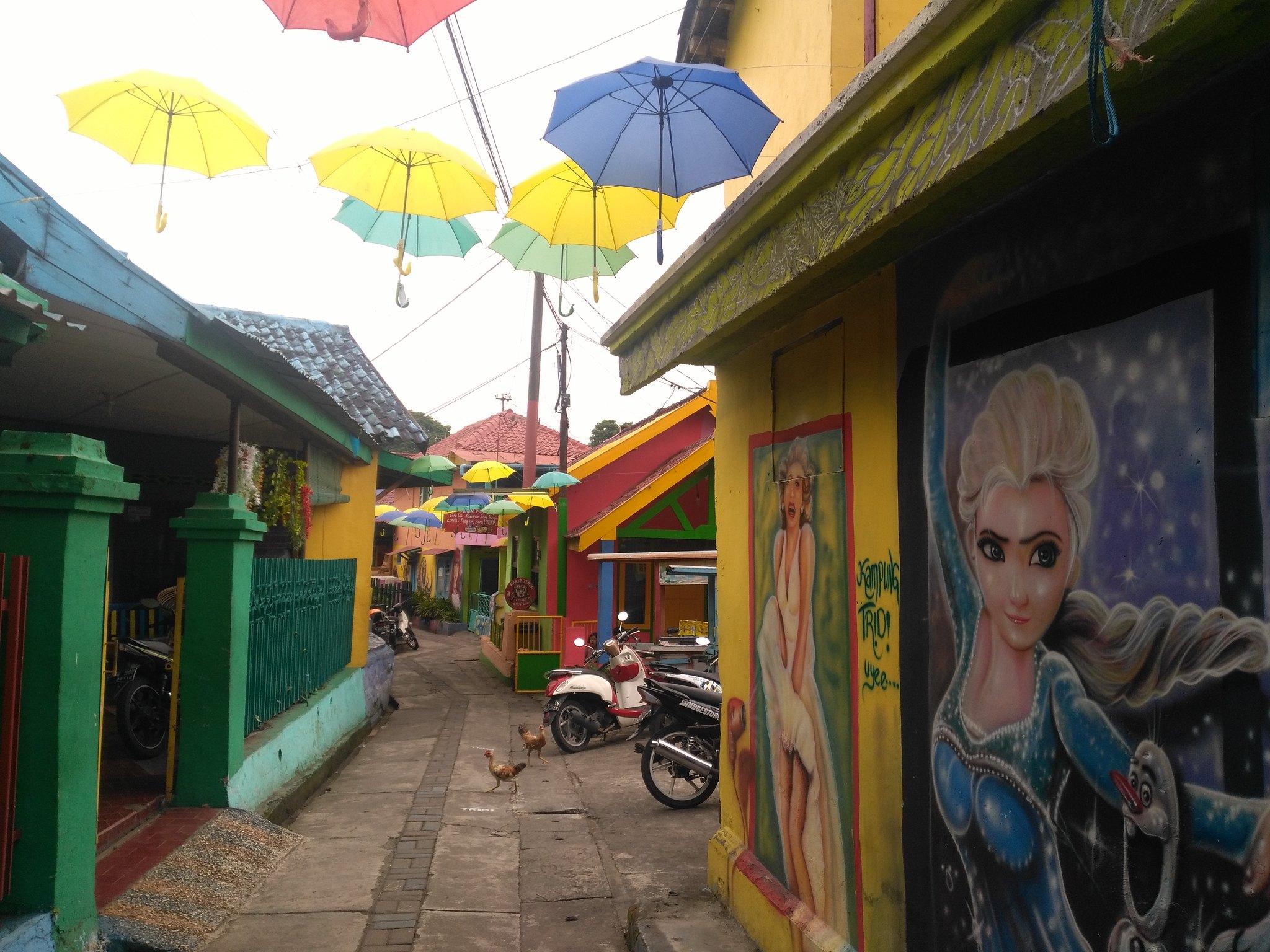 Kampung Tridi calles